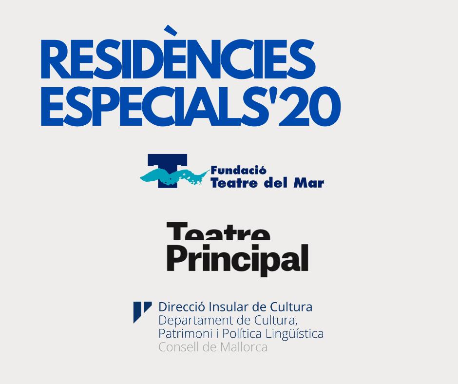 Selecionadas 3 propuestas para las Residències Especials'20