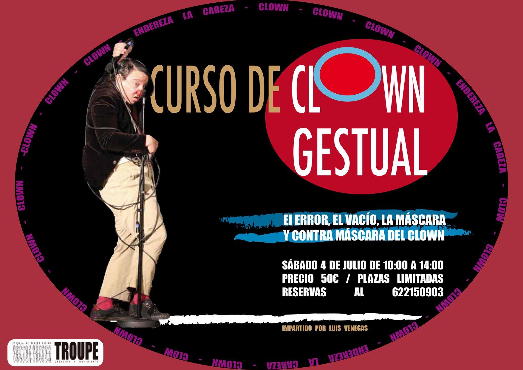 Curso de Clown Gestual en la Sala Delirious